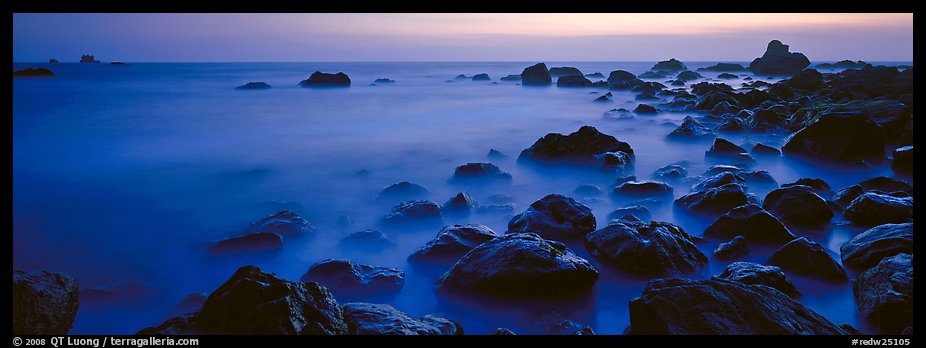 Ethereal ocean motion at dusk. Redwood National Park (color)