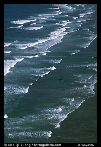 Succession of waves on Crescent Beach. Redwood National Park (color)