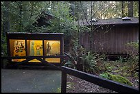 Exhibit and visitor center, Jedediah Smith Redwoods State Park. Redwood National Park ( color)