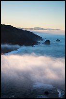 Costal clouds in early morning, Klamath River Overlook. Redwood National Park ( color)