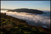 Sea of clouds at the mouth of Klamath River. Redwood National Park ( color)