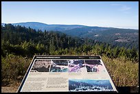 Redwood Creek watershed restoration interpretive sign. Redwood National Park ( color)