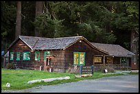 Visitor Center, Prairie Creek Redwoods State Park. Redwood National Park ( color)