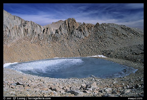 Frozen Iceberg Lake, Inyo National Forest. California, USA (color)