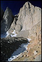 East face of Mt Whitney and Keeler Needle. Sequoia National Park, California, USA.