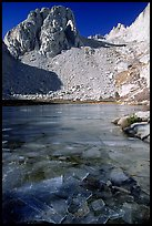 Frozen lake near Trail Camp. Sequoia National Park, California, USA.
