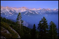 Western Divide, sunset. Sequoia National Park ( color)