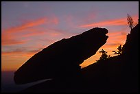 Balanced rock, sunset. Sequoia National Park ( color)