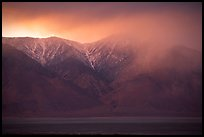 Clearing storm over  Sierras from Owens Valley, sunset. Sequoia National Park, California, USA.