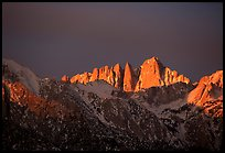 Mt Whitney, sunrise. Sequoia National Park, California, USA.