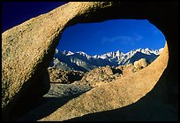 Alabama hills arch II and Sierras, early morning. Sequoia National Park, California, USA. (color)
