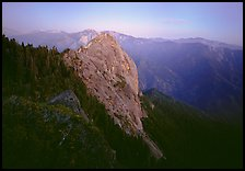 Moro Rock, dusk. Sequoia National Park, California, USA. (color)