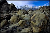Alabama hills and Sierras, winter morning. Sequoia National Park, California, USA.