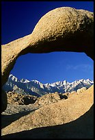 Alabama hills arch II and Sierras, early morning. Sequoia National Park, California, USA.