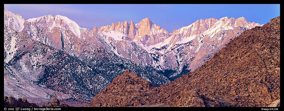 Mount Whitney at dawn. Sequoia National Park (color)