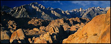 Boulders and Sierra Nevada. Sequoia National Park (Panoramic color)