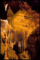 Stalactites and curtains, Crystal Cave. Sequoia National Park ( color)