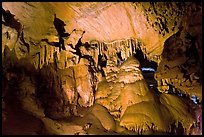 Calcite flowstone and cave curtains, Dome Room, Crystal Cave. Sequoia National Park ( color)