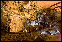 Tourists in huge Subterranean room, Crystal Cave. Sequoia National Park ( color)