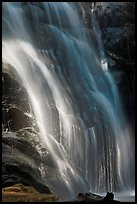Waterfall near Crystal Cave, Cascade Creek. Sequoia National Park, California, USA. (color)