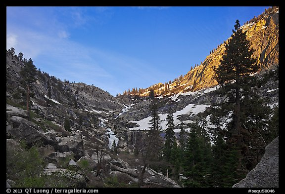 Alpine cirque, Marble Fork of the Kaweah River. Sequoia National Park (color)