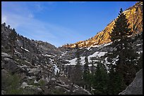 Alpine cirque, Marble Fork of the Kaweah River. Sequoia National Park ( color)