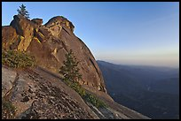 Moro Rock and Kaweah River valley at sunset. Sequoia National Park, California, USA. (color)