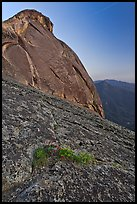 Granite slabs and dome of Moro Rock at sunset. Sequoia National Park ( color)
