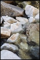 Marble rocks in river. Sequoia National Park ( color)