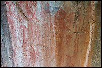 Ancient rock paintings, Hospital Rock. Sequoia National Park ( color)