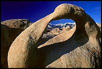 Alabama Hills Arch II and Sierra Nevada, early morning. Sequoia National Park, California, USA.