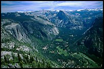 Yosemite Valley and Half-Dome from Eagle Peak. Yosemite National Park, California, USA. (color)