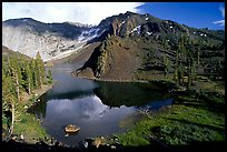 Ellery Lake in summer. California, USA