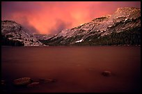 Tenaya Lake, dusk. Yosemite National Park, California, USA.