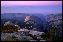 View of Yosemite Valley from Clouds Rest at dawn. Yosemite National Park ( color)