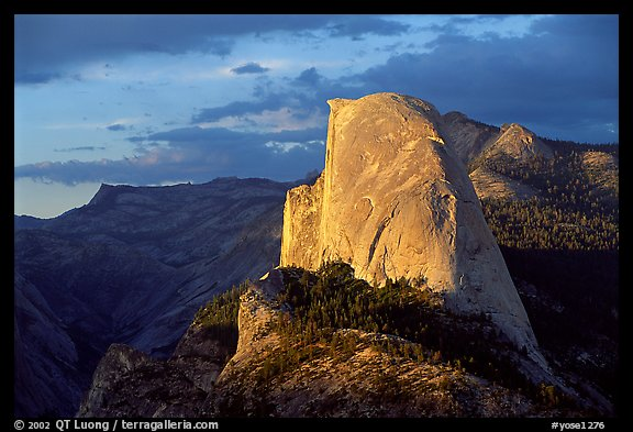 Half-Dome, sunset. Yosemite National Park (color)