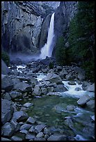 Lower Yosemite Falls, dusk. Yosemite National Park ( color)