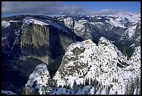 View of  Valley from Dewey Point in winter. Yosemite National Park, California, USA. (color)