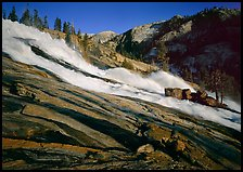 Waterwheels Fall of the Tuolumne River, late afternoon. Yosemite National Park ( color)