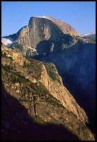 Half-Dome from Yosemite Falls trail, late afternoon. Yosemite National Park, California, USA.