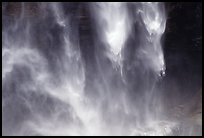 Water plunges fron Yosemite Falls. Yosemite National Park, California, USA.