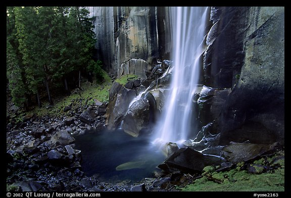 Base of Vernal Falls. Yosemite National Park (color)
