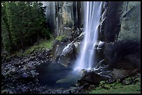 Base of Vernal Falls. Yosemite National Park, California, USA. (color)