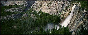 Nevada Fall. Yosemite National Park (Panoramic color)