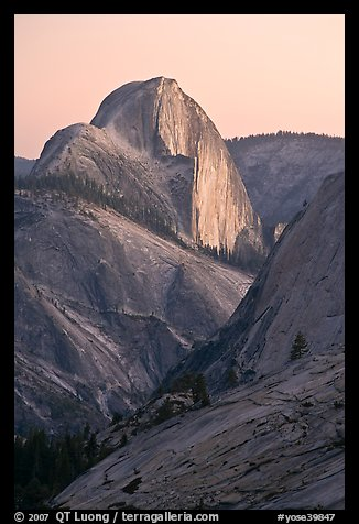 Half-Dome from Olmstedt Point, sunset. Yosemite National Park, California, USA.