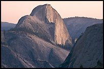 Tenaya Canyon and Half-Dome from Olmstedt Point, sunset. Yosemite National Park, California, USA. (color)