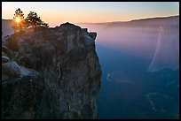 Sunset from Taft Point. Yosemite National Park, California, USA. (color)