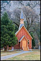 Yosemite Chapel. Yosemite National Park ( color)