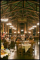 Dinning room at night, Ahwahnee lodge. Yosemite National Park ( color)