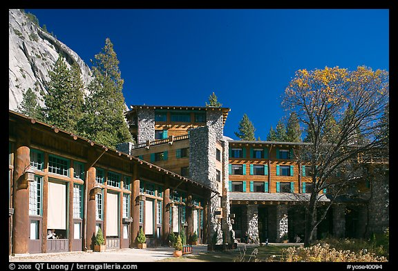 Ahwahnee lodge. Yosemite National Park (color)